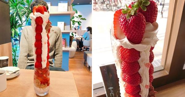 草莓聖代界的最終Boss! 一座超浮誇草莓山送到你面前震撼視覺
