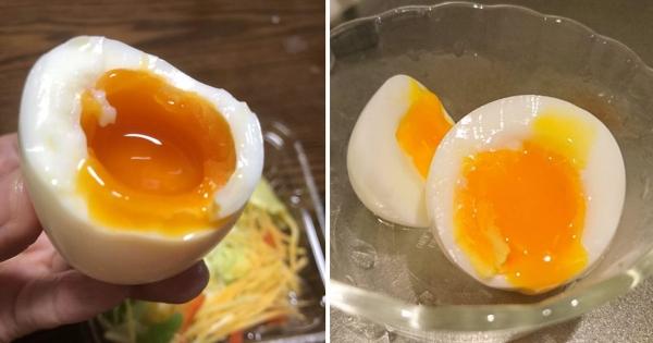 網友分享6分鐘「日式溫泉蛋」教程 2個步驟呈現「濃郁動態蛋黃」超完美!