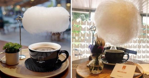 純白「棉花糖咖啡」會下糖絲雨 上桌後緩慢融化…美到拍不停
