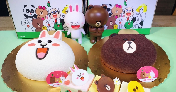 熊大、兔兔變蛋糕了!85℃推「Line造型蛋糕」 還有芋頭味莎莉~