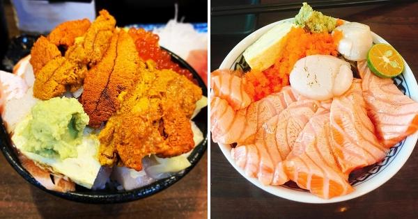 痛風也要吃!新北「浮誇系海鮮丼」配料超滿 老闆是把整個海味倒飯上啊~