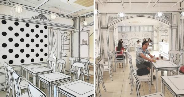 來當二次元人物~整間畫出來的「2D咖啡廳」新開幕 進去就變漫畫角色啦!