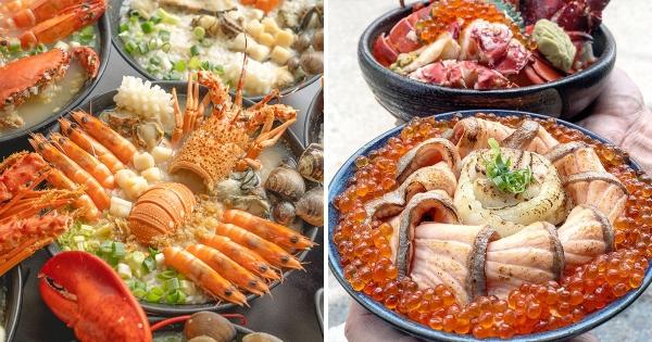 全台最猛海味!整隻龍蝦入「浮誇海鮮丼」 鮭魚卵海洋等你來吃~