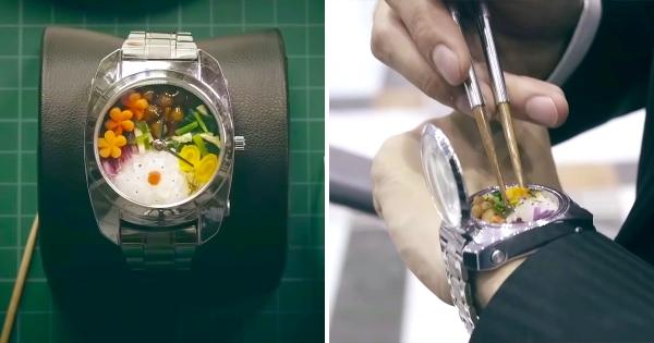 忙到沒時間呷便當? 大廚精製「手錶便當」幫上班族邊走邊補足熱量