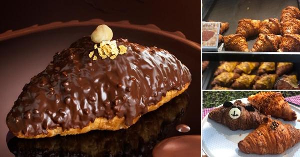 巧克力控開吃囉!八月堂「榛果巧克力可頌」限量開賣 金沙巧克力變身華麗可頌!
