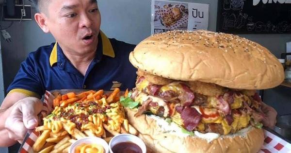 泰國餐廳做出「6.5公斤」巨獸漢堡 9分鐘吃完「當場送9900元」