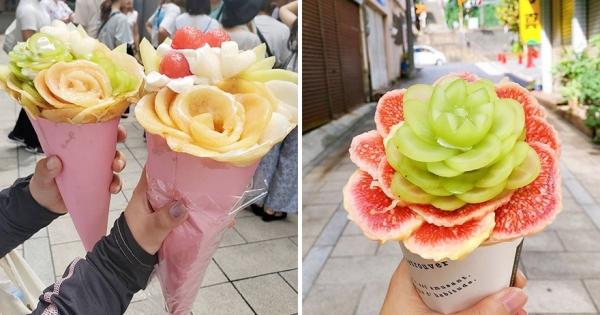 日本浮誇系可麗餅「比臉還要大」 精美花束造型「餡料滿到開花」