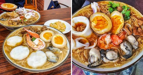 【彰化】全台最狂「海陸蚵仔麵線」在這! 一碗吃「大腸、蚵仔、小卷、鮮蝦」還有浮誇大干貝!