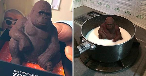 「大猩猩巧克力」做太真該怎麼吃? 日網友無奈:先讓它泡澡…