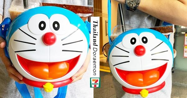 哆啦粉必備!7-11加購「哆啦A夢零食桶」 附「超實用背帶」外出秒成焦點!
