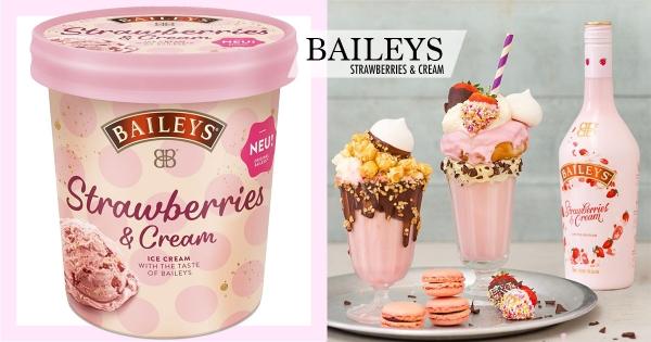 貝禮詩沒有極限!限定版「草莓奶酒冰淇淋」 「香甜奶酒+濃郁白巧」完美組合太療癒