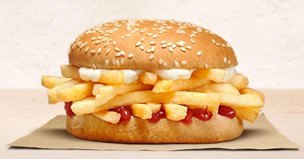 超ㄎㄧㄤ!漢堡王推「只有薯條堡」 薯條控尖叫:願望實現了